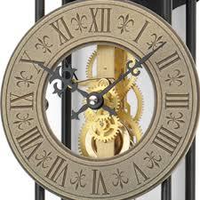 Wohnzimmer Uhren Wanduhr Ams Pendel Wanduhr Mechanisch Goldfarben Schwarz Metall Skelettuhr