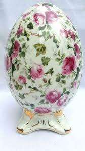 glass easter egg ornaments 6 glass easter egg ornaments blown handpainted poland glitter