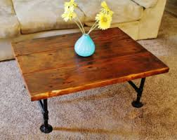Pipe Coffee Table by Reclaimed Wood Coffee Table Etsy