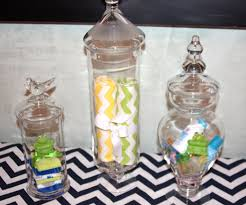 apothecary jars great idea for a baby shower centerpiece lime