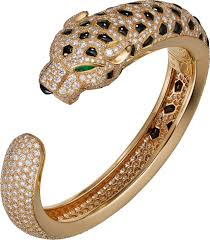 cartier bracelet diamond images Crh6013117 panth re de cartier bracelet yellow gold emeralds png