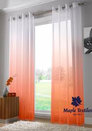 two tone ombre voile curtains ring top single panel free postage