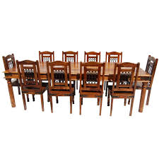 Large Wood Dining Room Table Solid Wood Large Dining Room Table Chair Set Furniture