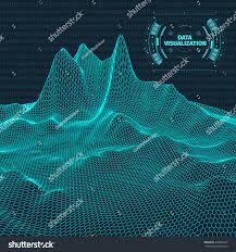 data visualization background futuristic design hud stock vector
