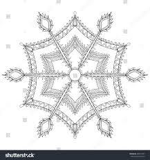zentangle stylized winter snowflake christmas new stock vector