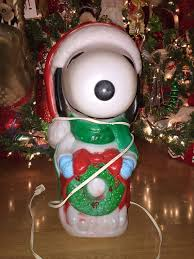 Blow Mold Plastic Christmas Yard Decorations by Christmas Santa U0027s Best Snoopy Blow Mold Yard Decor Plastic