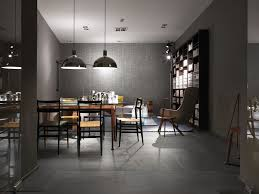 contemporary dining room with flush light by pental surfaces contemporary dining room with slate tile floors flush light philips dome 1 light