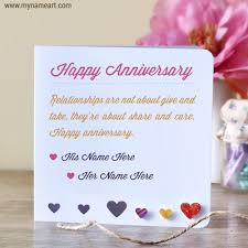 wedding wishes on cake anniversary wishes for couples name edit online wishes greeting card
