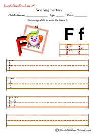 writing alphabet clown theme aussie childcare network