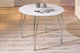 tables rondes de cuisine table de cuisine ronde métal et bois coloris blanc fellini table