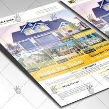 real estate a4 flyer psd template indesign psdmarket
