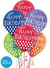 birthday balloons happy birthday balloons party city