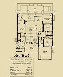 Key West Floor Plans by 3 000 5 000 Sq Ft U2013 Florida Lifestyle Homes