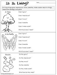 science worksheets living vs non living worksheets pinterest