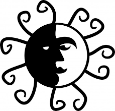 black and white sun clipart free best black and white