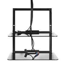 obwf2 omnimount double glass dvd video game cable box wall shelf