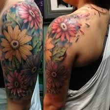 3d floral dragon tattoo on half sleeve photos pictures and