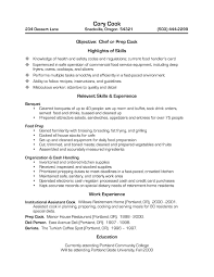 chef resume exles best solutions of pastry chef resume objective on cook resume