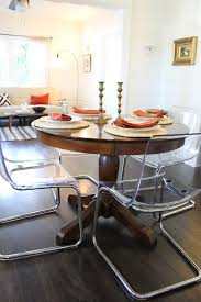 Lucite Dining Room Chairs Lucite Dining Table Dining Room Contemporary With Clear Chairs