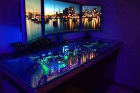 Gaming Desk Pc Desk Design Ideas Part Furniture Pc Desk Awesome Glow In The