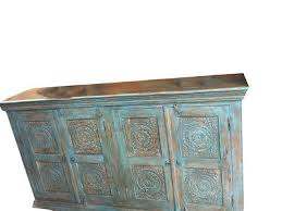 black friday sales furniture stores antique indian sideboard wood blue carved chakra chest console