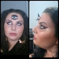 3rd eye tutorial fortune teller halloween makeup youtube