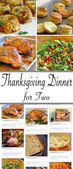 thanksgiving traditional thanksgiving dinner menu list for two