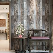 Kitchen Wallpaper Designs by Haokhome 5003 Weathered Faux Wood Plank Wallpaper Rolls Slategray