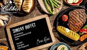 colibri cuisine 33 sunday buffet with regular bar from colibri baabdat only