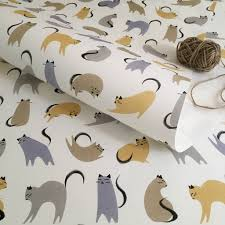 cat wrapping paper cats wedding and anniversary wrapping paper by purpose