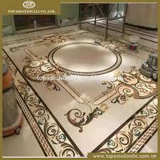 waterjet marble tile flooring medallion design floor pattern