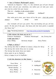harry potter project videos extracts ws 5 worksheet free