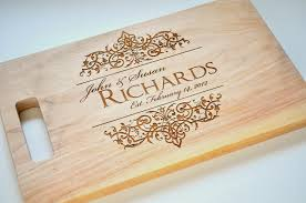 wedding gift engraving ideas personalized cutting board laser engraved maple 8x14 wood