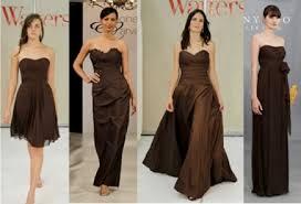 brown bridesmaid dresses fall 2011 trends espresso bridesmaid