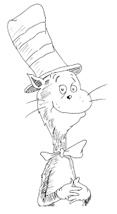 download cat in the hat printable coloring pages coloring page