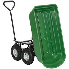 bcp garden dump cart dumper wagon carrier wheel barrow 650lb