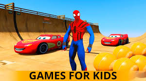 lightning mcqueen cars spiderman cartoon on a farm meet the