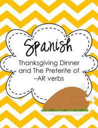 preterite of ar verbs thanksgiving thematic unit
