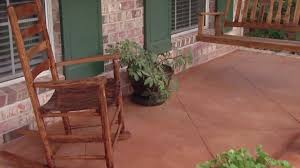How To Paint Outdoor Concrete Patio Improving The Look Of A Concrete Porch Floor Today U0027s Homeowner