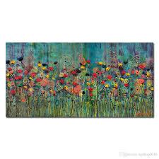 Art For Living Room 2017 Kgtech Rainbow Flower Oil Paintings Handpainted Canvas Art