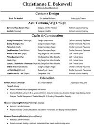 Type Of Font For Resume The Business Of Costuming Resumes Christianne Bakewell Costume