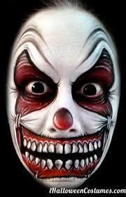Evil Clown Halloween Costumes Evil Killer Clowns Couple U0027s Costume Boyfriends Face Makeup