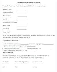 free teacher resume templates word free teacher resume template medicina bg info
