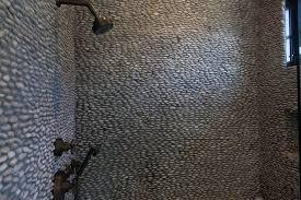 river rock bathroom ideas river rock tiles autour
