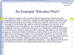 Resume Design Pitch Examples Sample by Elevator Speech Examples Example Hi 30 Sec Pitch For High