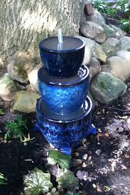 blue planters waterfall outdoor dreams and ideas pinterest