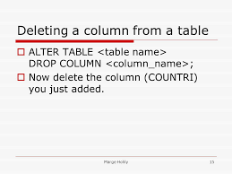 Alter Table Drop Column Database Design Sections 12 U0026 15 Introduction To Application
