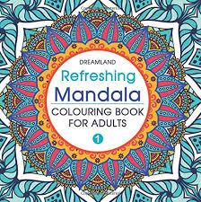 buy refreshing mandala colouring book adults book 1 book