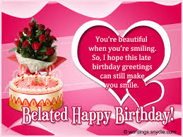 belated wedding card belated birthday wishes messages and card wordings wordings and