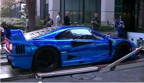blue f40 car picker blue f40